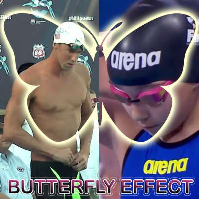 10-year-old Alzain Tareq and 30-year-old Michael Phelps demonstrate the butterfly effect