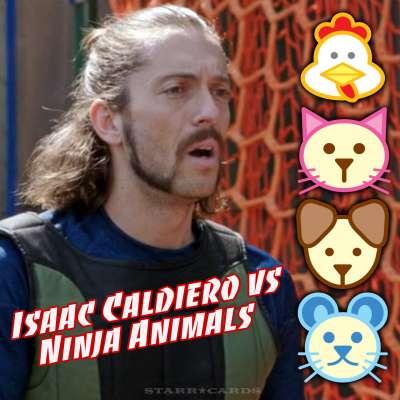 American Ninja Warrior Isaac Caldiero vs Chicken, Cat, Dog and Mouse