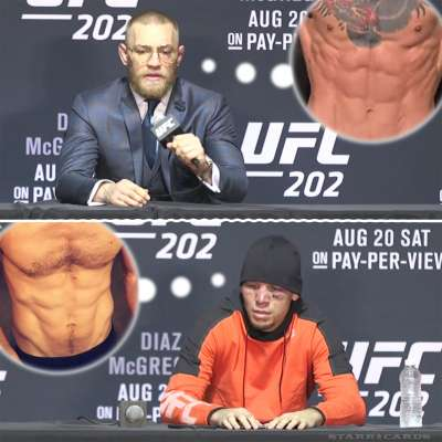 Conor McGregor and Nate Diaz want their six-pack abs back after UFC 202