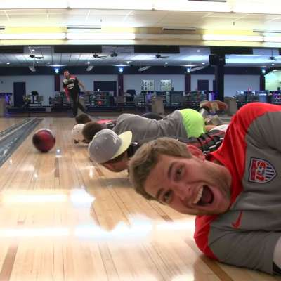 Dude Perfect bowling trick shots with Jason Belmonte: Lane Heads