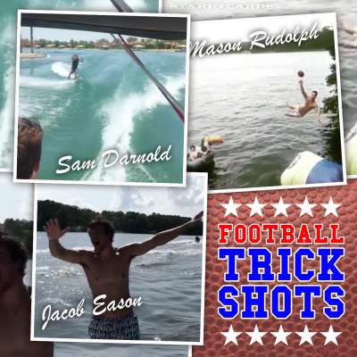 Football trick shots with Georgia's Jacob Eason, USC's Sam Darnold, Oklahoma State's Mason Rudolph