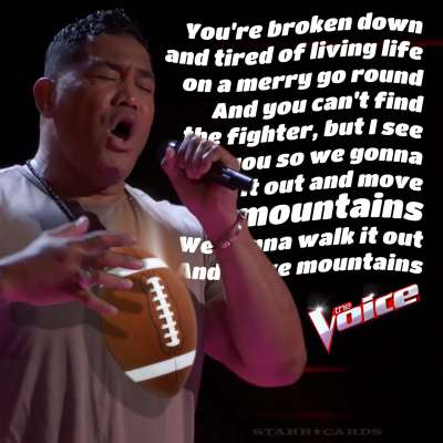 Former NFLer Esera Tuaolo on 'The Voice'