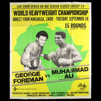 "George Foreman vs Muhammad Ali ""Rumble in the Jungle"" poster"