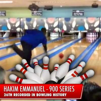Hakim Emmanuel bowling 900 series