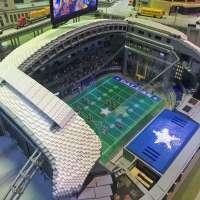 Lego model of Dallas Cowboys AT&T Stadium