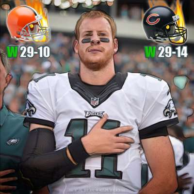Philadelphia Eagles quarterback Carson Wentz starts rookie campaign at 2-0