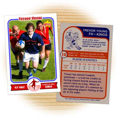 Rugby card template from Starr Cards Rugby Card Maker.