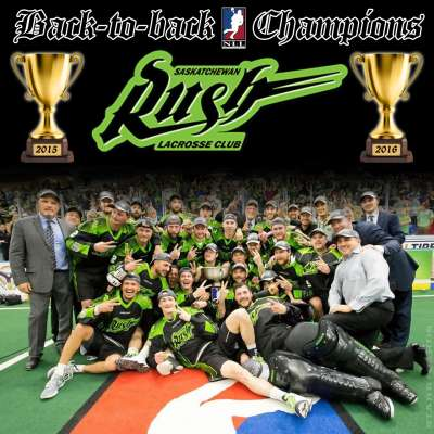 Saskatchewan Rush: 2015 and 2016 National League Lacrosse Champions