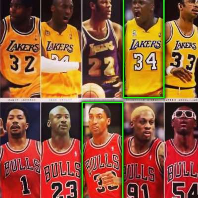 Shaquille O'Neal's Lakers team would beat Scottie Pippen's Bulls