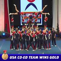 USA wins gold medal in Coed Premiere competition at 2017 ICU World Cheerleading Championship