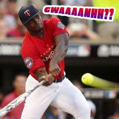 Adrian Peterson whiffs on Jennie Finch pitch at MLB Celeb Softball game