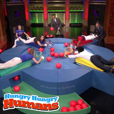 """Aly Raisman and the """"Final Five"""" play Hungry Hungry Humans with Jimmy Fallon"""