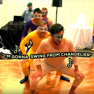 Blackhawks' Kris Versteeg headlines choreographed dance at Devin Setoguchi's wedding reception
