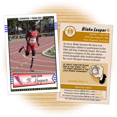 Blake Leeper track card