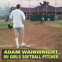 Cardinals Adam Wainwright moonlights as 8u girls softball pitcher