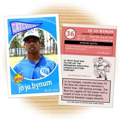 Centre Blue Sox baseball player Jo Jo Bynum