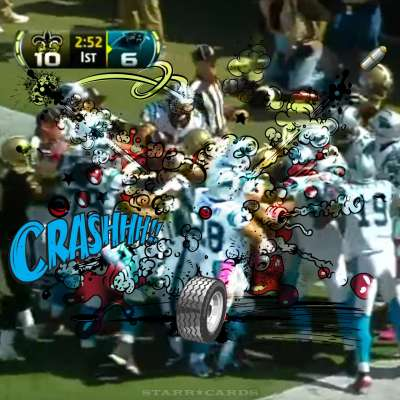 Craziest NFL fights includes Saints and Panthers end zone dustup