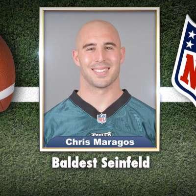 "Eagles' Chris Maragos voted ""Baldest Seinfeld"""