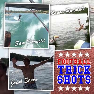 Football trick shots with Georgia's Jacob Eason, USC's Sam Darnold, Oklahoma State's Mason Rudolph
