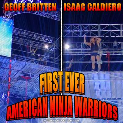 Geoff Britten and Isaac Caldiero are the first ever to complete 'American Ninja Warrior'