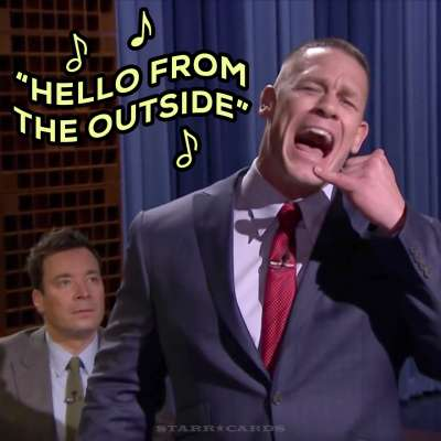 "John Cena sings Adele's ""Hello"" on 'The Tonight Show With Jimmy Fallon'"