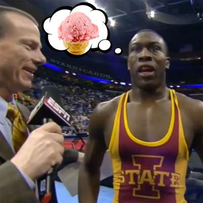 Kyven Gadson wants ice cream after his 197-pound wrestling title