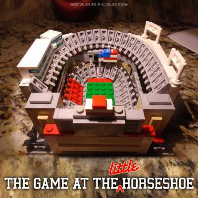 Little Horseshoe: Ohio State Buckeyes football stadium made from LEGO bricks