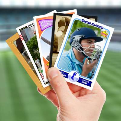 Make your own cricket card with Starr Cards.