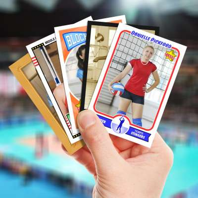 Make your own volleyball card with Starr Cards.