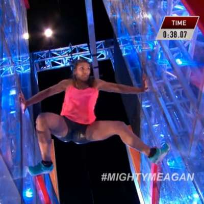 Meagan Martin becomes first woman to complete ANW's spider jump obstacle