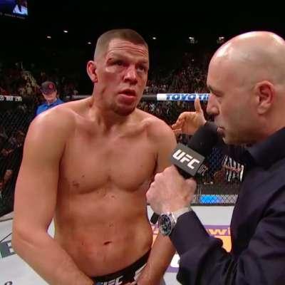 Nate Diaz interviewed after defeating Conor McGregor