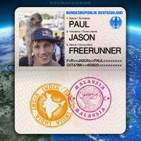 Passport from Mumbai, India to Kuala Lumpur, Malaysia for freerunner Jason Paul
