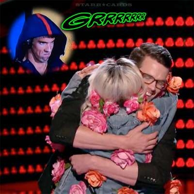 Phantom menace Michael Phelps growls as Miley Cyrus hugs Dave Moisan on 'The Voice'