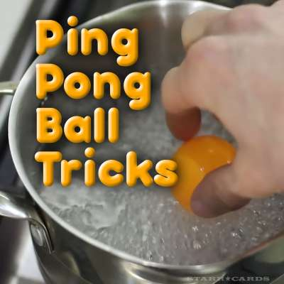 Ping pong ball tricks