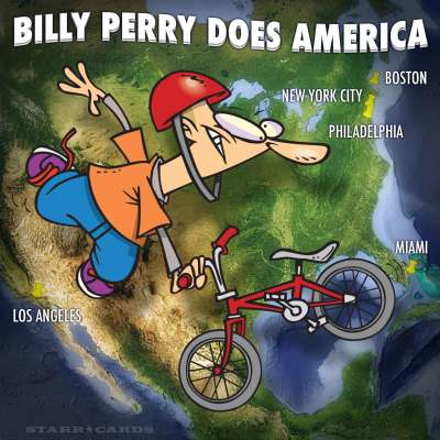 Pro BMX rider Billy Perry does tour of America's great cities