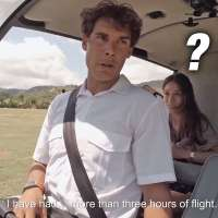 Rafael Nadal trains for poker bluffing in a helicopter
