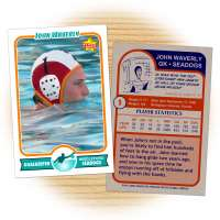 Water polo card template from Starr Cards Water Polo Card Maker.
