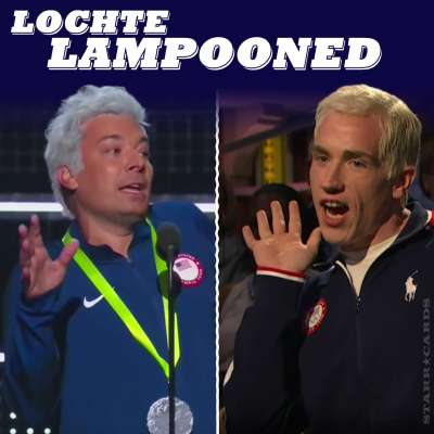 Ryan Lochte lampooned by Jimmy Fallon and on Seth Meyers