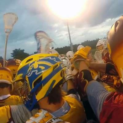 Salisbury lacrosse practice seen from a helmet cam