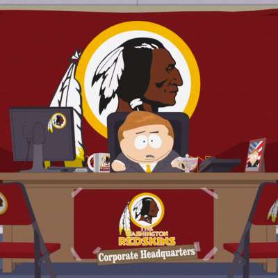 South Park's Eric Theodore Cartman owns the Washington Redskins