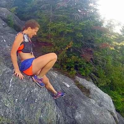 Ultramarathon runner Nikki Kimball on the Long Trail in Vermont