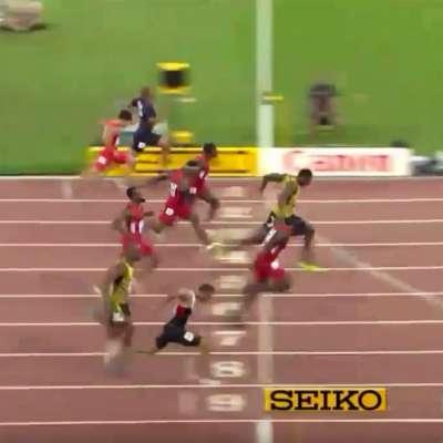 Usain Bolt edges Justin Gatlin for third World Championship in 100-meter event